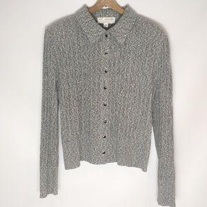 ST JOHN   collection knit cardigan collar 0093